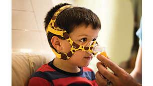 Máscara especialmente diseñada para niños