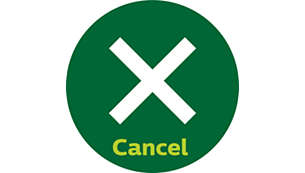 Cancel button for instant shut-off