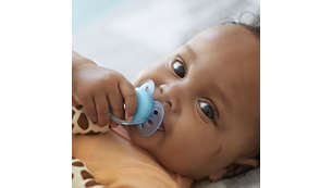 Helps you and your baby find the pacifier