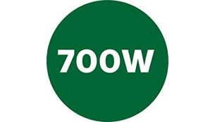 Powerful 700 W motor