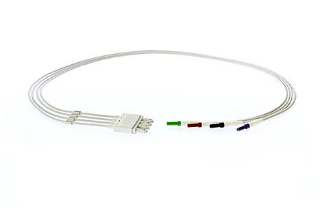 4-Leadset, DIN-to-tab adapter, Chest IEC Lead Set