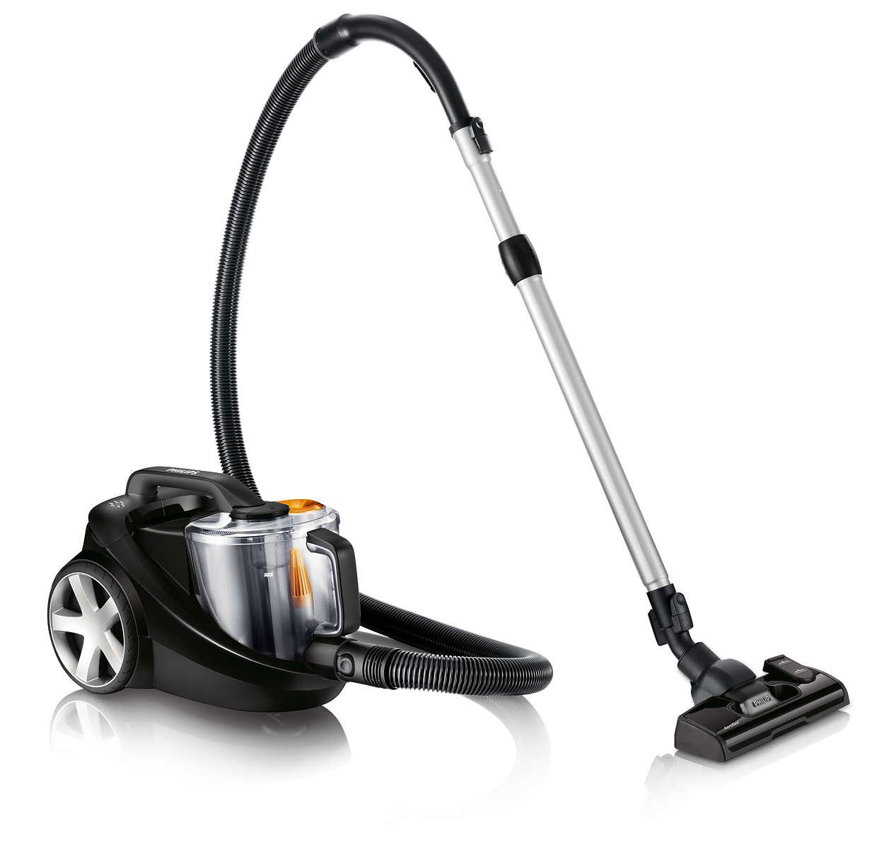 Usisava 40 % više prašine i osigurava bolje čišćenje