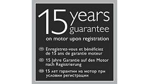 15 års motorgaranti