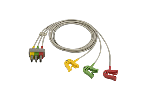 Cbl Shielded 3-lead grabber safety Lead Set