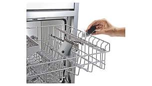 Boquilla fácilmente desmontable, apta para el lavavajillas