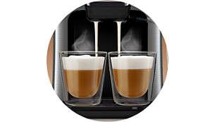 Alleen SENSEO® Latte Duo serveert 2 bekers melk tegelijk