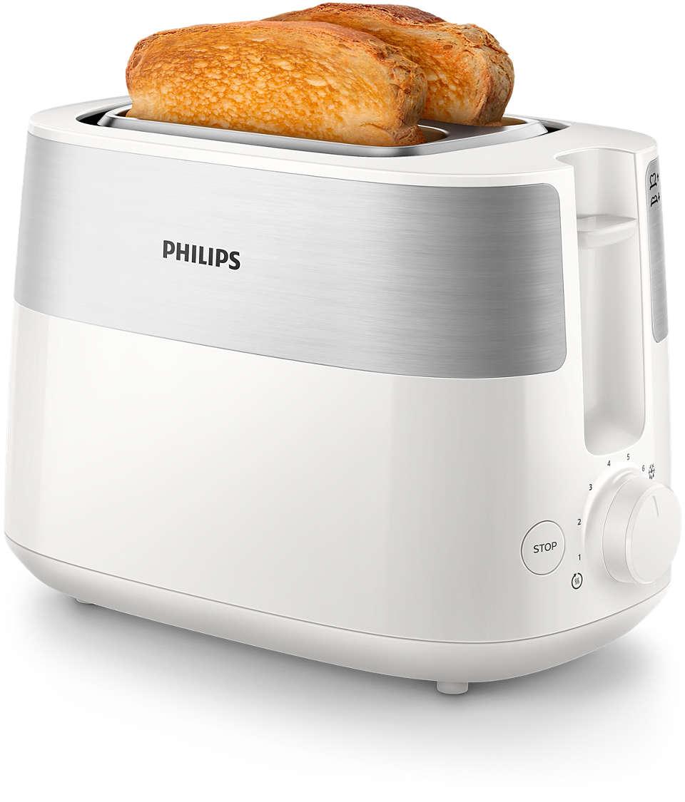 Pâine prăjită crocantă, rumenită uniform în fiecare zi
