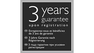 3letá záruka po registraci
