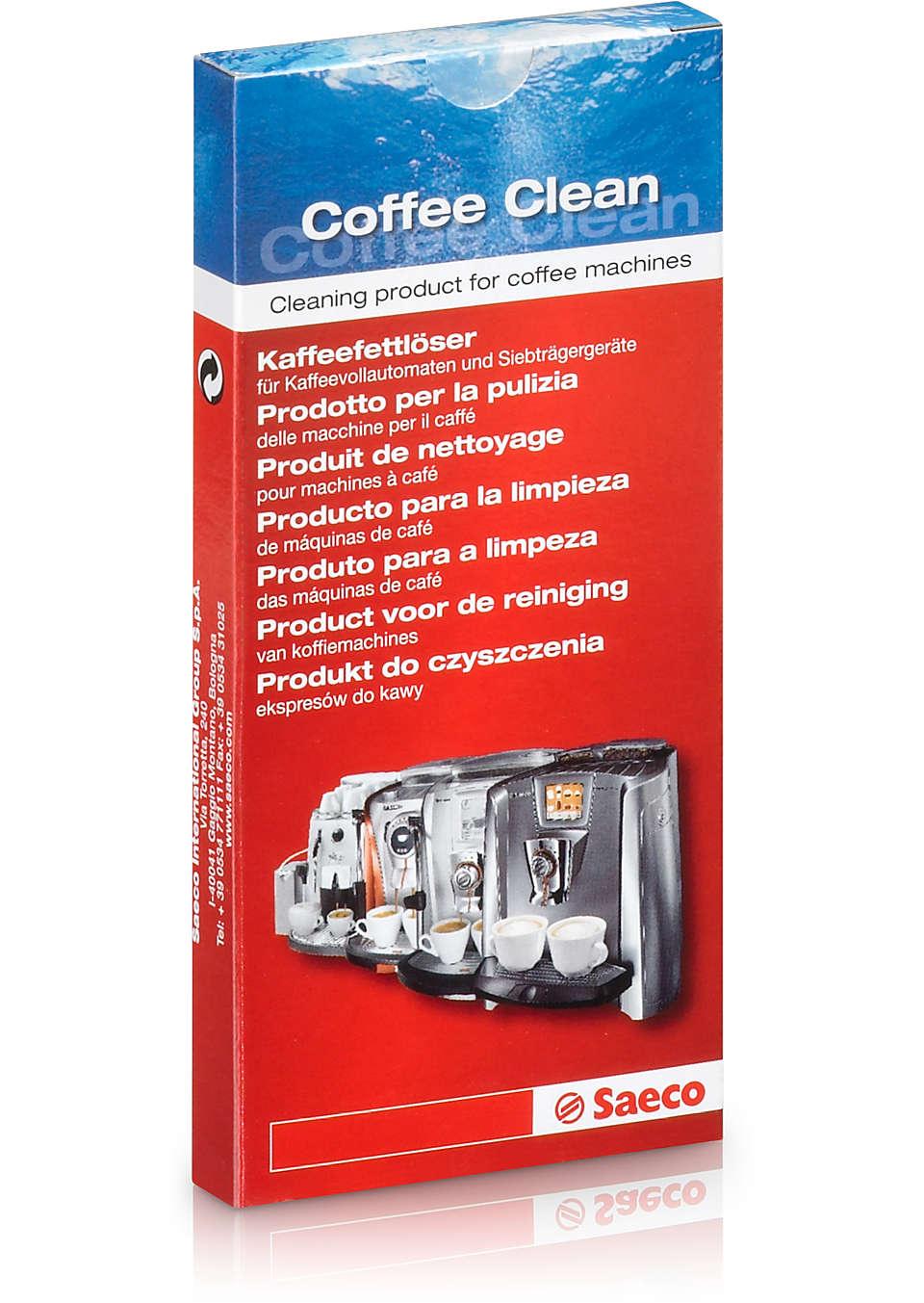 Coffee Clean: producto de limpieza