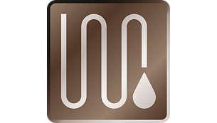 특허 받은 물의 흐름 덕분에 최적의 상태로 정화되어 흐르는 깨끗한 물
