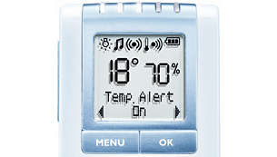 Monitor the humidity & temperature in the baby`s room