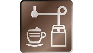 Espuma aterciopelada con tan solo pulsar una vez el espumador de leche automático