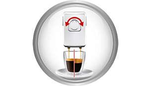 Patented adjustable espresso crema and body structure