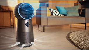 Rată CADR de până la 165 m³/h*: purifică încăperi de până la 42 m²**