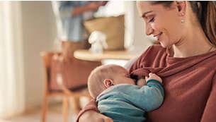تحفيز تحرير الحليب بسهولة قبل الرضاعة أو في ما بين عمليات الرضاعة
