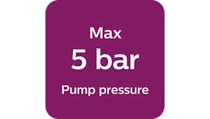 Max 5 bar pump pressure