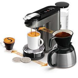 SENSEO® Switch 3in1 Machine à café à dosettes et filtre