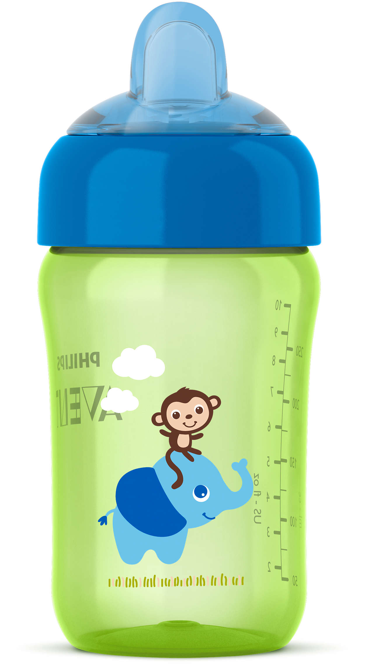 Snap-top lid keeps spout clean on the go