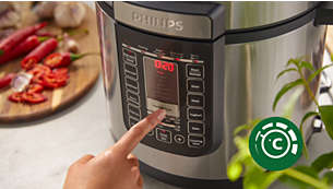 Adjustable cooking time, temperature and pressure