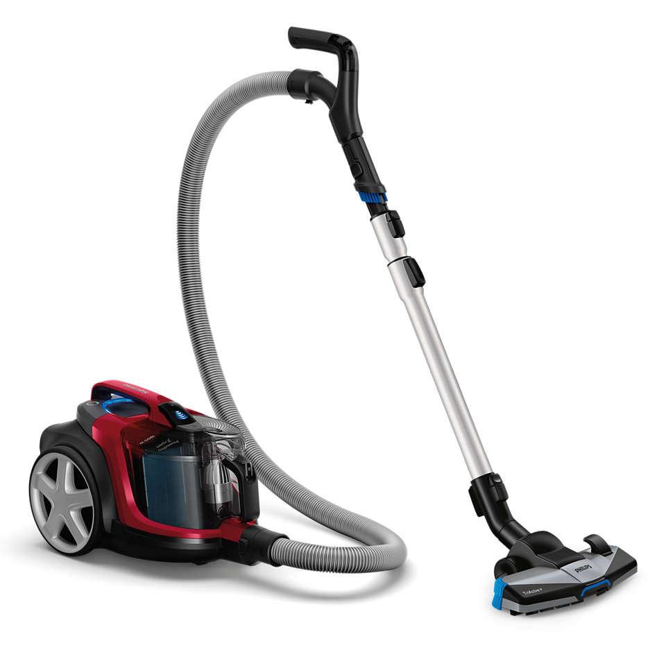 可清除并锁定 99% 的细尘。*