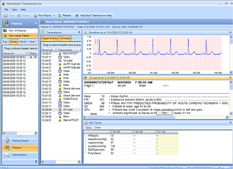 HeartStart Software de gestión de datos