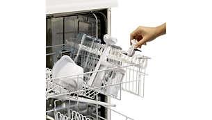 Nástavec a příslušenství lze mýt v myčce