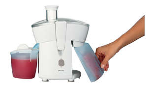 Juice continuously using the 500ml detachable pulp container