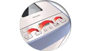 Funcionamiento intuitivo con botones fáciles de usar para cualquier usuario