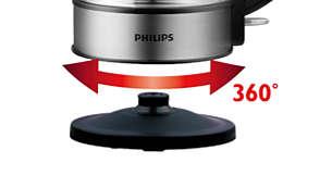 Беспроводная подставка с поворотом на 360° для удобства использования.