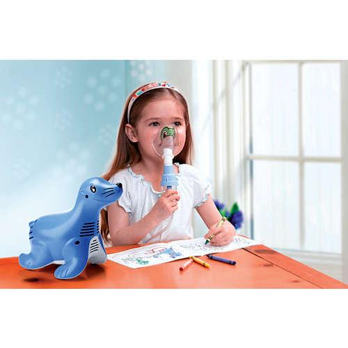 Sami the Seal Compressorsysteem van de vernevelaar voor kinderen