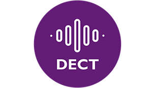 DECT technology guarantees zero interference & 100% private