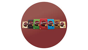 Variety of coffee blends and flavours for different tastes