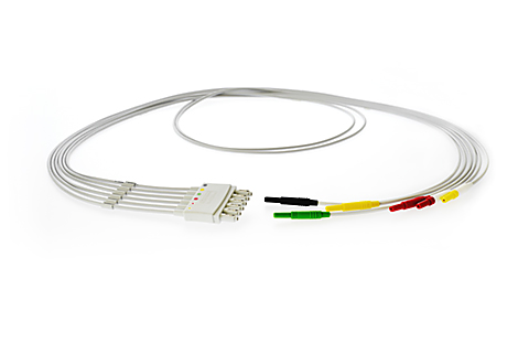 6-Leadset, DIN-to-tab adapter, Limb IEC Lead Set