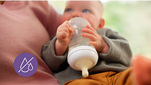 No-drip nipple design prevents spills and lost milk