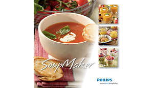 En bok med inspirerande recept medföljer