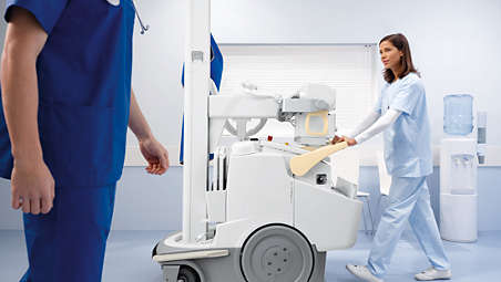 Mobile X-ray system can access all hospital areas