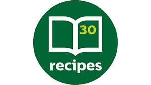 Livre de recettes inclus pour des idées à chaque repas
