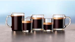 Geniet van 5 koffievariaties binnen een handomdraai