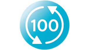 Bis zu 100 Wiederverwendungen der Beutel zur Dampfsterilisation in der Mikrowelle pro Packung