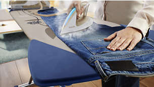 Go from ironing jeans to silk; no need to change temperature setting