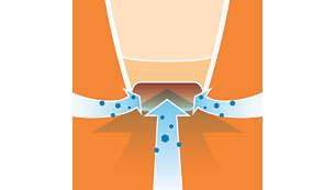 Aerodinamična usisna četka bolje usisava prašinu