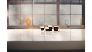 Geniet van 4 koffievariaties binnen een handomdraai
