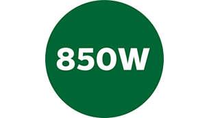 Motor van 850 W voor een krachtige werking