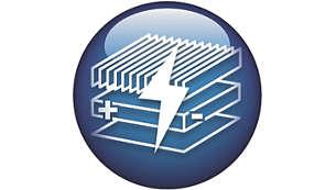 3-traps Electro-clean-systeem laadt en vangt alle deeltjes