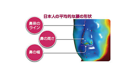 日本人の3Dスキャンデータを収集し、顔面形状を分析