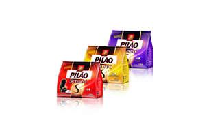 Linha de sachês de café Pilão SENSEO® especialmente desenvolvidos