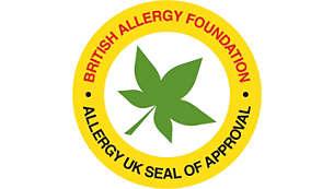 Approvato da Allergy UK