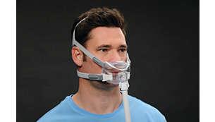 Ocupa menos superficie del rostro que cualquier otra máscara de las principales marcas del mercado.
