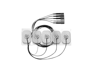 Adult disposable metallic 5 electrode lead set Electrode