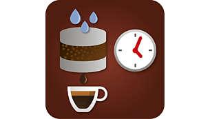 Экспериментируйте со вкусом кофе, настроив время предварительного заваривания